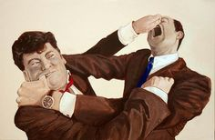 "Saatchi Online Artist Eric Drass; Painting, ""Corporate Fight Club: Quantitative Easing  "" #art"