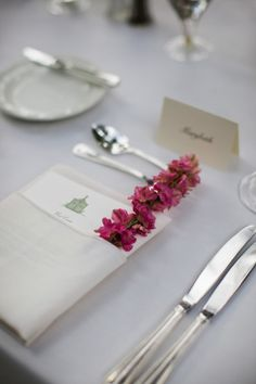 Place setting- i like napkin fold with menu insert. could print name along top of menu as place card.