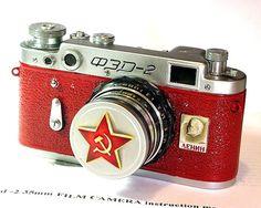 1957 antique Red October FED-2 camera RUSSIAN Leica-=LENIN=-