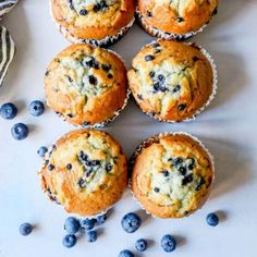 The Best Easy Blueberry Muffins Recipe - Sweet Cs Designs Jumbo Blueberry Muffin Recipe, Easy Blueberry Muffins, Simple Muffin Recipe, Homemade Muffins, Blueberry Recipes, Homemade Desserts, Köstliche Desserts, Blue Berry Muffins, Delicious Desserts