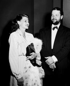 Rita Hayworth and Orson Welles in 1945
