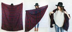 3 ways to wear a blanket scarf Aritzia takeover! #thursdaytakeover #wrapstar #unfancytakeover