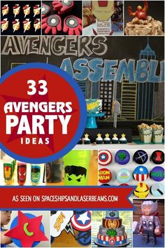 WhatÂ's the latest and greatest boy birthday party theme? Check out these Avengers party ideas to create a super celebration! Superhero Birthday Party, Birthday Party Games, Boy Birthday, Birthday Ideas, Batman Party, Avengers Birthday Parties, Fourth Birthday, Happy Birthday, Bucky