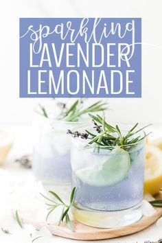 Craft drinks: Sparkling Lavender Lemonade for summer picnics and parties. Cocktail Recipes Homemade, Flavored Water Recipes, Easy Drink Recipes, Summer Recipes, Summer Drinks, Fun Drinks, Spring Cocktails, Fruity Drinks, Cold Drinks