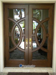 Extra Wide Front Door Custom Door With Circle Design