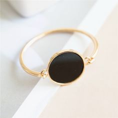 Simple Elegant Black Natural Stone Bracelets & Bangles For Women Bijoux Fashion Jewelry Wholesale