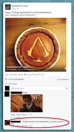 An Assassin's Creed Pie and a Zinger Dragon Age, Skyrim, Assassins Creed Memes, Video Game Logic, Should Have Known Better, Pokemon, Time Games, Funny Games, Film