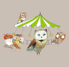 'Owls Fun-Fair' by Juri Romanov