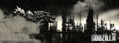 Chilling Godzilla 2014 Fan Art