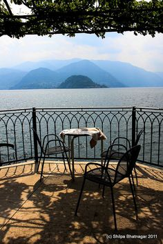 Lake Como -  enjoyed a nice lunch at this cafe. the day looked exactly like this photo. wish i could remember the name of the cafe