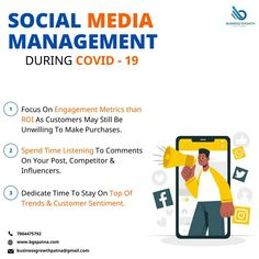 The best ways to manage your Social Media during the pandemic are the ones that help your business grow. To know more, visit www.bgspatna.com WhatsApp 7004475792 #SocialMediaMarketing #WorkFromHome