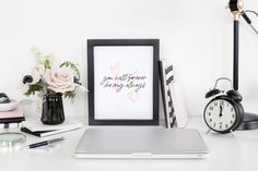 You Will Forever Be My Always | Home Decor Printable | Wall Art Print for Living Room, Bedroom, Dorm | Blushvadesign
