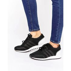 adidas Originals Black And White Los Angeles Sneakers ( 92) ❤ liked on Polyvore  featuring shoes f332625f1