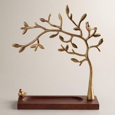 Gold Tree Jewelry Stand with Wooden Base - World Market from Cost Plus World Market. Saved to bafroom Gold Tree Jewelry Stand with Wooden Base - World Market from Cost Plus World Market. Saved to bafroom Jewellery Storage, Jewelry Organization, Jewellery Display, Jewelry Holder Stand, Necklace Holder, Jewelry Tree Stand, Wooden Tree, Wooden Gifts, Organizers