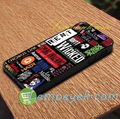 Broadway Musical Collage  iPhone cases, Samsung Galaxy cases, HTC one cases