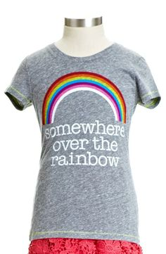 'Somewhere Over The Rainbow' Tee for Girls.
