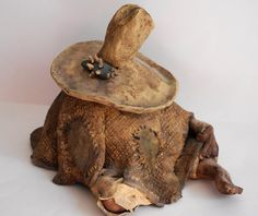 Sombrero Man Taking A Siesta Handcrafted Ceramic Figurine - pinned by pin4etsy.com