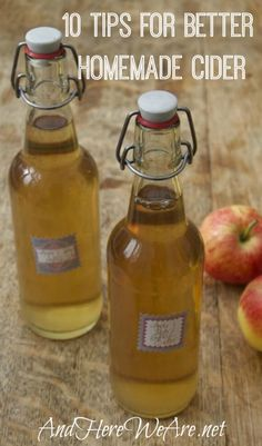 10 Tips for Better Homemade (Hard) Cider