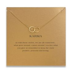 Collares Vintage Large 2 Linked Circle Necklace Women Gold Plated Pendant Clavicle Chain Karma Statement Choker Necklaces