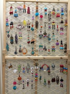 "Creative idea...if you are like me that beads jewelry, I'll suggest recycling a ""BABY FENCE"" into an earring display. This is what I came up with."