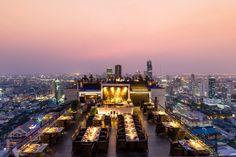 El hotel Banyan Tree Bangkok ofrece una selección de experiencias culinarias del más alto nivel. Mientras admiramos la ciudad chispeante.