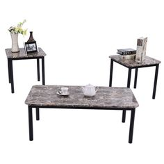 Item specifics     Condition:        New: A brand-new, unused, unopened, undamaged item in its original packaging (where packaging is    ... - #Furniture https://lastreviews.net/home/furniture/3-piece-modern-faux-marble-coffee-and-end-table-set-living-room-furniture-decor/