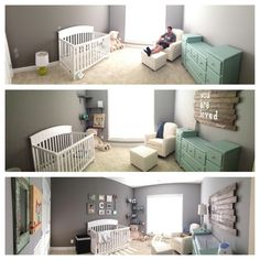 baby boy nursery progress #tealandgrey