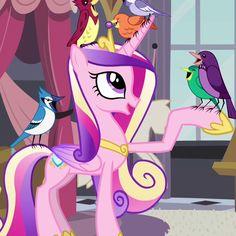 Princess cadence and birds