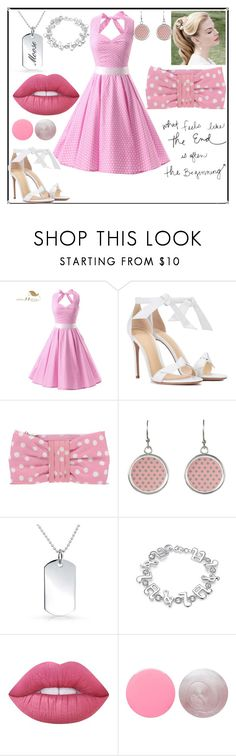 """""""60s"""" by maria-eugenia-i on Polyvore featuring Alexandre Birman, RED Valentino, WithChic, Lime Crime and Deborah Lippmann"""