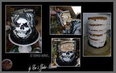 "Anschnitt :Meine Fondant Helloween -Birthday Cake "" ET TEMPUS VENIET """