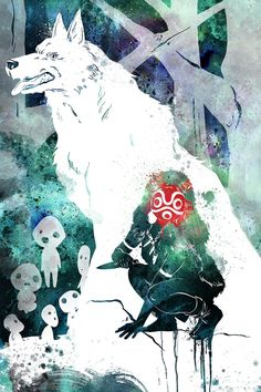 Princess Mononoke fan-art by Penelope Paws