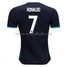 Billige Fotballdrakter Real Madrid 2017-18 Cristiano Ronaldo 7 Bortedrakt Kortermet