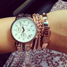 Stack Ootd Banana Republic Bangles Mk Watch J Crew Friendship Bracelet Tiffany Bead Armparty Web Instagram User Follow