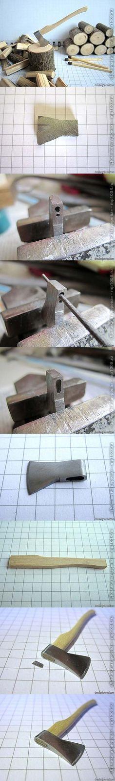 Cómo hacer un hacha miniatura