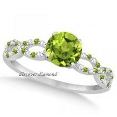 1.90 Ct ROUND WHITE & GREEN DIAMOND SOLITAIRE  14 K WHITE GOLD ENGAGEMENT RING #DiscoverDiamond #Solitaire
