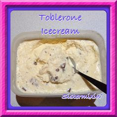 Who doesn't love Toblerone? You must try this Tolberone ice-cream made by Sistermixin' Thermomix Great Desserts, Frozen Desserts, Delicious Desserts, Dessert Recipes, Thermomix Icecream, Thermomix Desserts, Toblerone, Bellini Recipe, Making Homemade Ice Cream