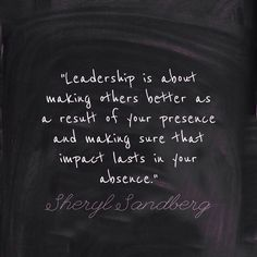 Change leadership to teaching and that's exactly how I feel. I want my students to succeed on their own. I'm their guide, their back up.