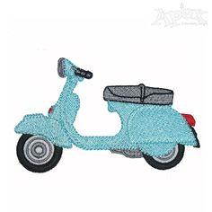 Vespa Embroidery Design