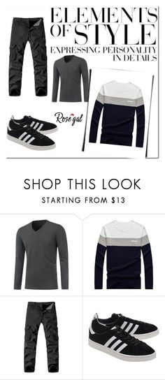 """""""Rosegal 44/90"""" by nermina-okanovic ❤ liked on Polyvore featuring adidas Originals, Vera Wang, men's fashion, menswear, wear, mens, shop and rosegal"""