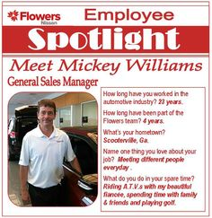 #EmployeeSpotlight Meet Mickey Williams, General Sales Manager At Flowers  Nissan.