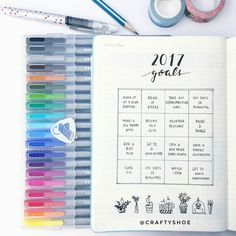 A new Inspiration Gallery is now posted with creative Goal-Setting & Bucket List Spreads  | minimalist bullet journals spread |