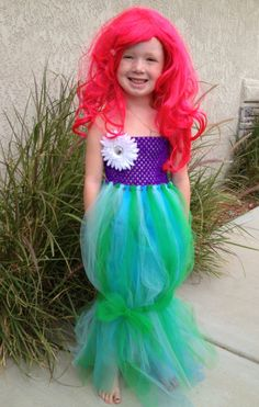Little Mermaid tutu dress by CoverMeInLove on Etsy, $30.00