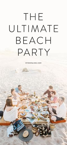 Host a beach party this summer