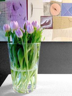 Foto pinnata dalla nostra lettrice, blogger di Details of us: Abbinamenti cromatici: quadri & fiori