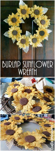 Flowers Diy Burlap Sunflower Wreaths 28 Ideas For 2019 Burlap Projects, Burlap Crafts, Wreath Crafts, Diy Wreath, Burlap Wreaths, Wreath Bows, Burlap Art, Wreath Making, Sunflower Crafts