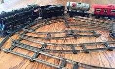 Vintage Marx Toy Wind Up Train Set O Scale by SylviasFinds on Etsy, $30.00  My sister and I both had one set each.  I still have the surviving pieces...no track tho