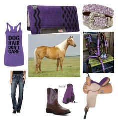"""Purple on pumpkin"" by kickbuttcowgirl ❤ liked on Polyvore featuring Justin Boots and Rock & Roll Cowgirl"