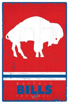 The Buffalo Bills Vintage Logo Poster hangs perfectly in any bedroom, man-cave, office and den for any Bills fan. Officially Licensed through NFL Measures High Quality - Crystal Clear Image Printed on FSC-Certified Paper at FSC-Certified Printers Buffalo Bills Logo, Buffalo Bills Football, Poster Wall, Poster Prints, Official Nfl Football, Football Team Logos, Clip Art, Retro Logos, Illustration