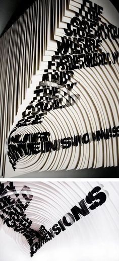 Alida Sayer, Slaughterhouse Five, Typography Letters, Graphic Design Typography, Paper Book, Paper Art, Slaughterhouse Five, Artistic Visions, Anamorphic, Editorial, Glitch Art