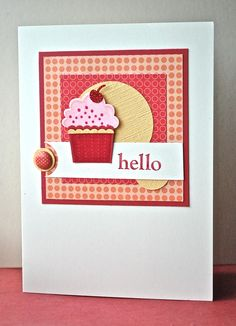 Stampin' Up ideas and supplies from Vicky at Crafting Clare's Paper Moments: Create a Cupcake notecard
